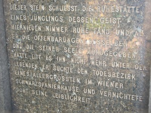 Otto Weiningerin hauta Wienissä.