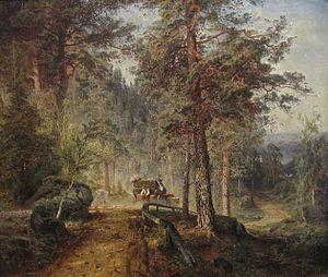 Werner Holmberg: Maantie Hämeessä (1860)