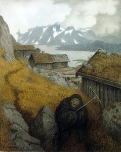 Theodor Kittelsen: Hän kiertää koko maan (1904)