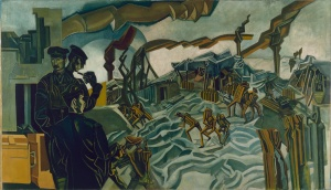 Wyndham Lewis: A Battery Shelled (1919)