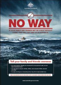 Australian hallituksen tiedote siirtolaisille.